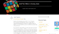 Detective English English is not a mystery any more.p