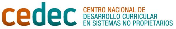Logotipo CEDEC. Centro Nacional de Desarrollo Curricular en Sistemas no Propietarios
