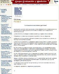 La Web del Grupo de Evaluación y Medición Universitat de València