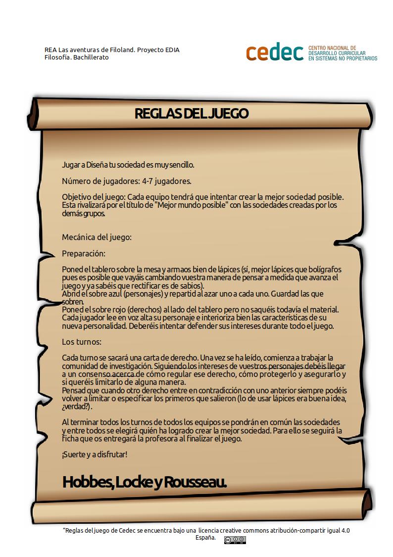 Imagen de la rúbricaReglas del juego Diseña tu sociedad