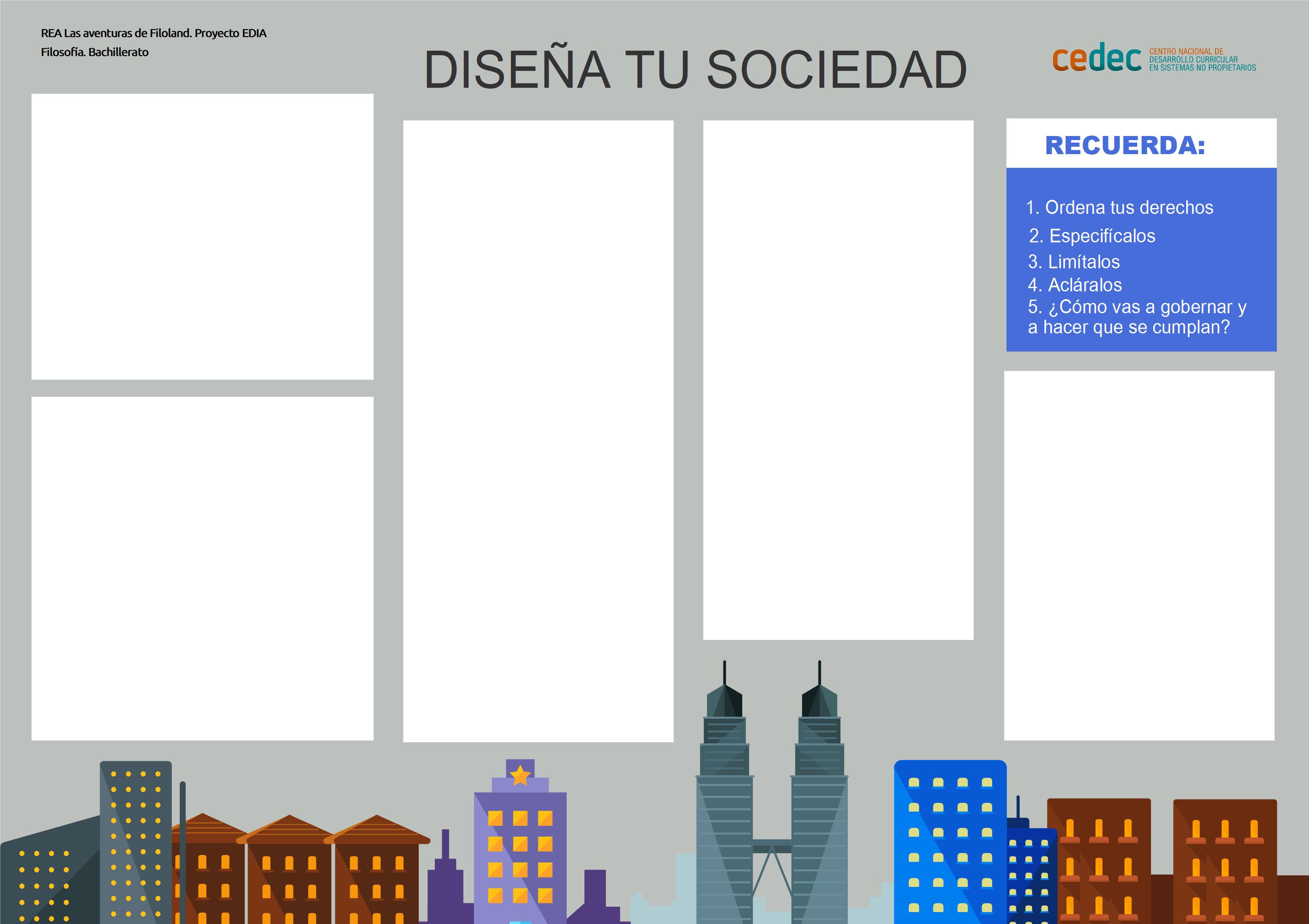 """Imagen de la rúbricaTablero del juego """"Diseña tu sociedad"""""""